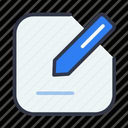 create, edit, pencil, text, write icon