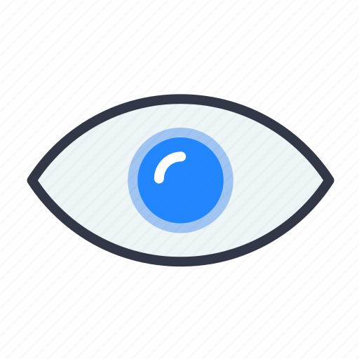 eye, see, seen, view, vision icon