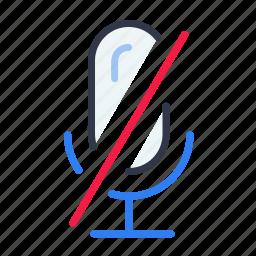 audio, mic, microphone, mute, recording icon