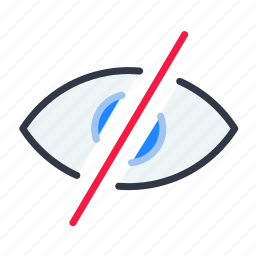 no, read, see, view icon