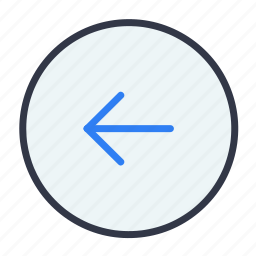 arrow, back, direction, left, preview icon