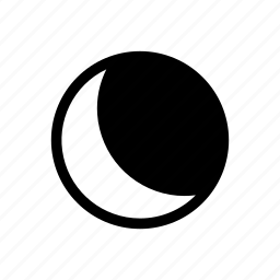 dark, darkness, midnight, moon, night icon