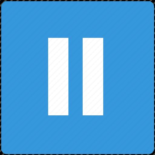 arrow, basic, break, center, control, pause, web icon