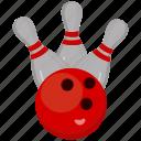 bowling, game, sport, strike