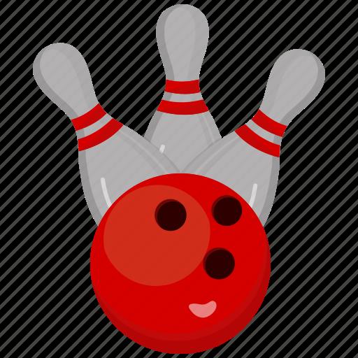 bowling, game, sport, strike icon