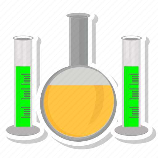chemical, conical, elementary, lab icon