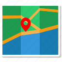 map, placemark, treasure, treasure map, well map icon