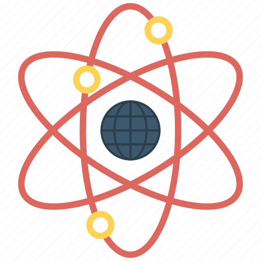 Atom, color, molecule, physics, quantum, science icon - Download on Iconfinder
