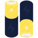 aa, battery, charged, full icon