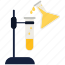 flask, laboratory, test, tube icon