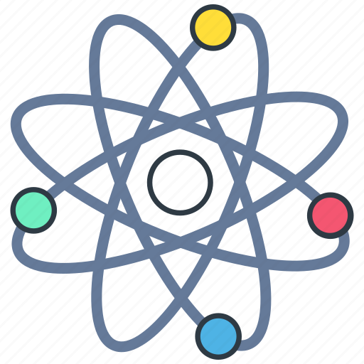 Atom, chemistry, physic, physics, proton, science icon - Download on Iconfinder