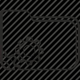 configuration, folder, gear, settings icon
