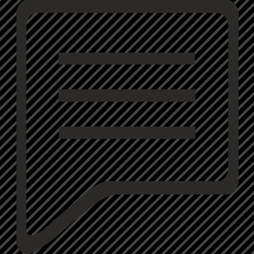 comment, dialog, message, speach icon