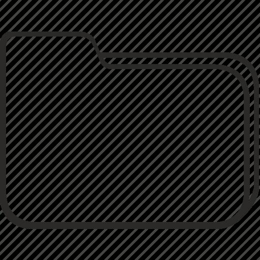 empty, files, folder, structure icon