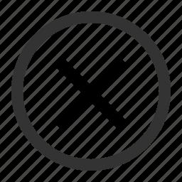 alert, cancel, delete, remove, stop icon