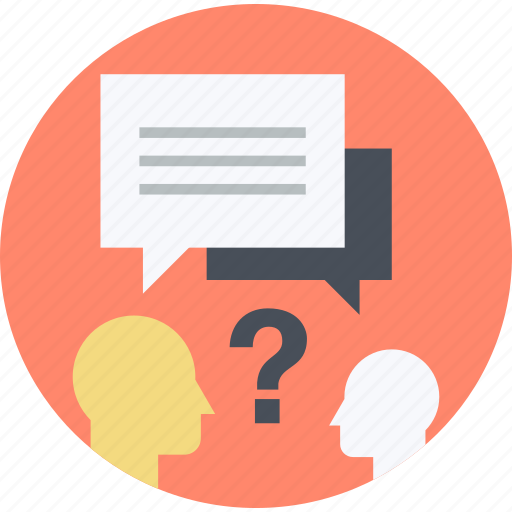 Answer, faq, flat design, help, questuin, round, support ...