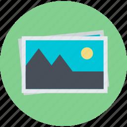 art, flat design, gallery, images, photo, portfolio, round icon