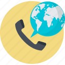 business, call, communication, conference, flat design, global icon
