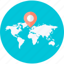 destination, flat design, location, map, navigation, pin, round icon