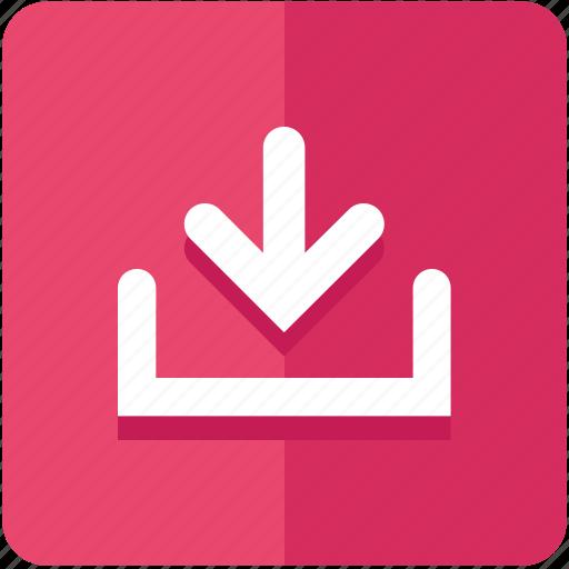 arrow, down, download, guardar, save, upload icon