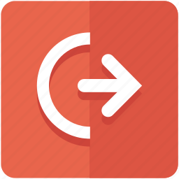 exit, logout, off, out, power, shutdown, sign icon