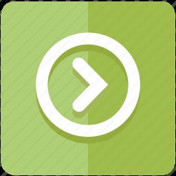 arrow, control, forward, next, play, start icon