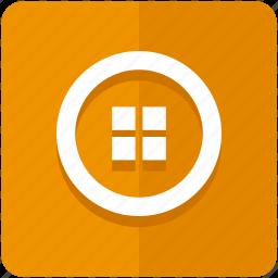 grid, list, menu, option, options, settings, stack icon