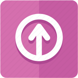 arrow, color, direction, export, left, up, upload icon