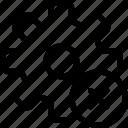 cog, failure, gear, loading, settings, work icon