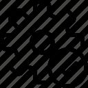 cog, gear, loading, settings, success, work icon