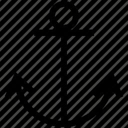 anchor, sea icon