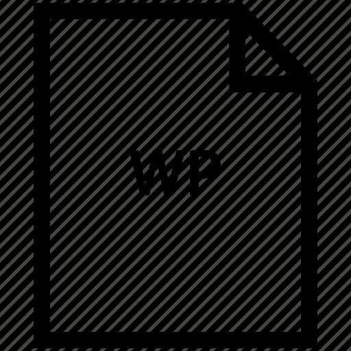 file, wp icon