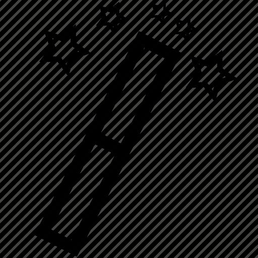 magic, magic stick, tool icon