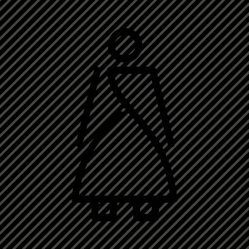 minimal, woman icon