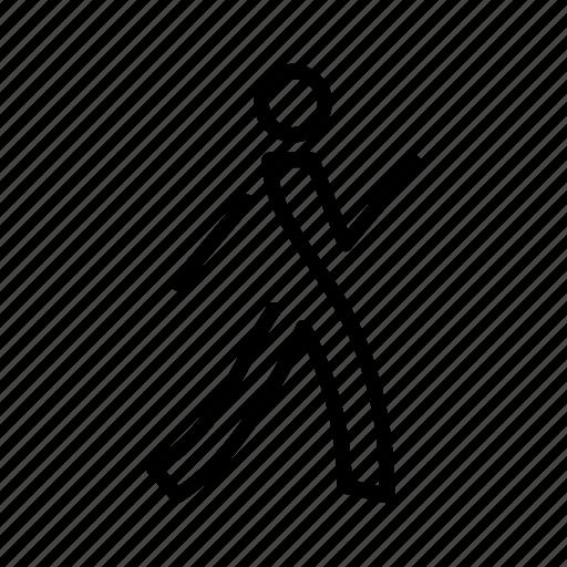 minimal, walking icon