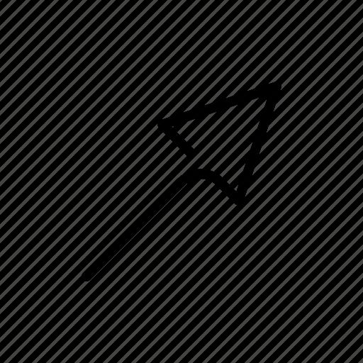 arrow, minimal icon
