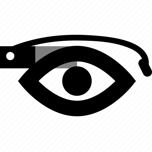 eye, futuristic, glass, glasses, google, google glass, google project, google+, gproject, magnifying, plus icon
