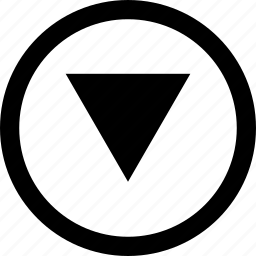 arrow, down, download, fall, go icon