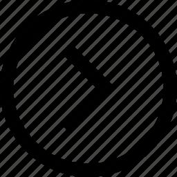 arrow, forward, move, next, right, shift icon