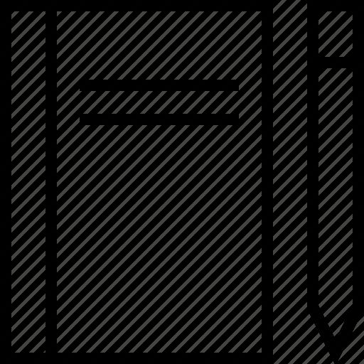 book, document, draw, edit, pencil, write icon