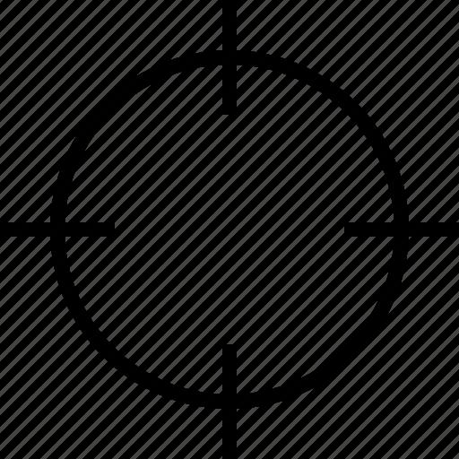 aim, bullseye, goal, gunsight, location, navigation, target icon