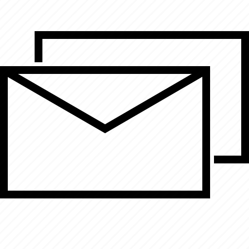 communication, email, letter, mail, message, multiple icon