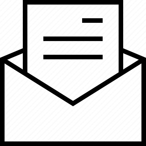 document, email, letter, mail, message, open, text icon