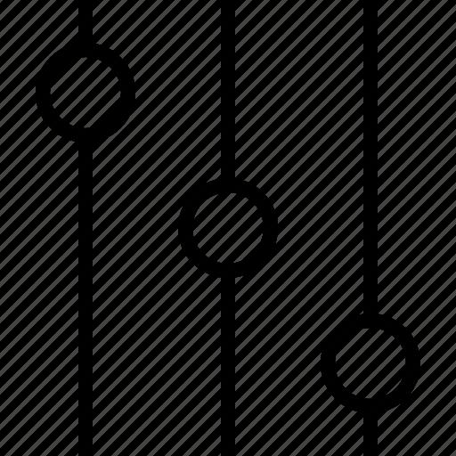 arrow, audio, basic, equalizer, mixer, music, options icon