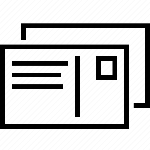 document, files, folder, multiple, paper, postcard icon