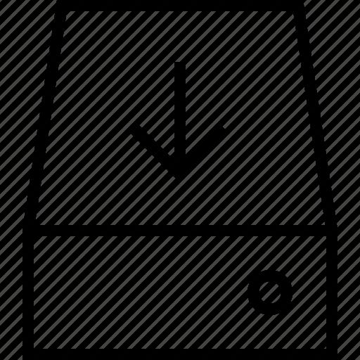 arrow, cloud, down, download, internet, server icon