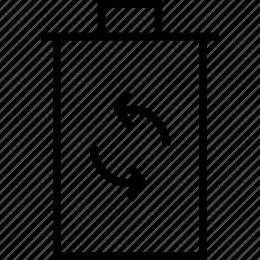 arrows, circle, refresh, reload, trashcan icon