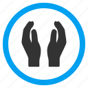 care hands, charity palms, give, help, maintenance, protection icon