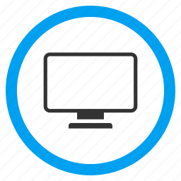 desktop panel, display, electronic device, equipment, monitor, pc screen, tv set icon