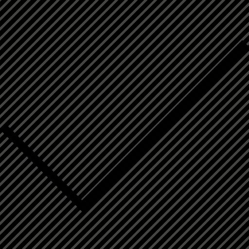 arrow, check icon